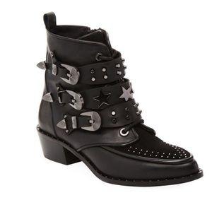 Ivy Kirzhner Steampunk Black Leather Bootie